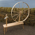 Shetland  Fine Craft - A Grand Spinning Wheel made from Maple
